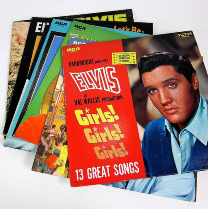Collection of Elvis Presley Vinyl Records 60s 70s by AttysVintage | Kitsch | Scoop.it