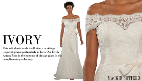 Is White Really White when Choosing Your Wedding Gown ~ Know Your Whites | Wedding Secrets | Scoop.it
