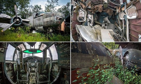 Hidden amid the foliage and scrap metal, abandoned fleet of WWII fighter planes lie rotting in the backwoods of Ohio | Hidden Tales of WW2 | Scoop.it