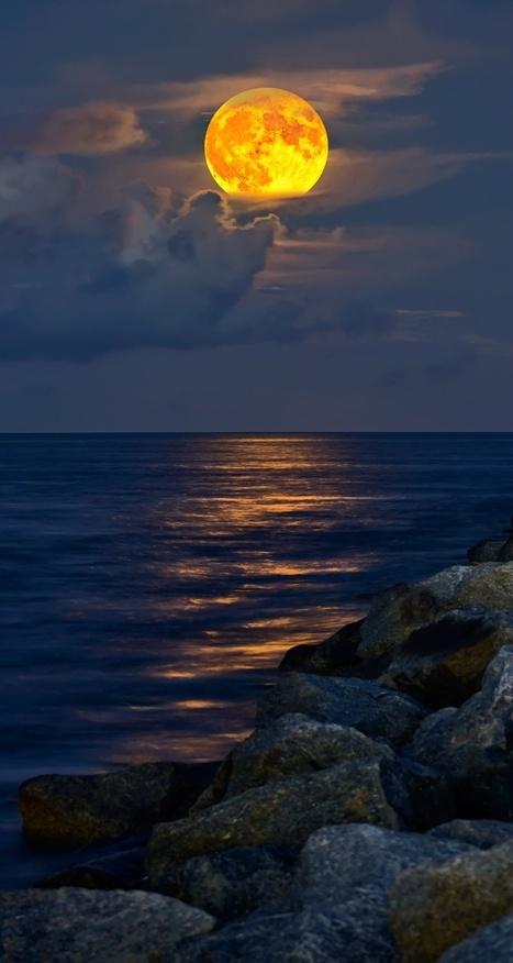 Full-Moon rising over Jupiter Inlet Beach | My Photo | Scoop.it