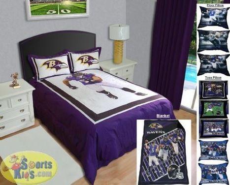 Biggshots NFL Baltimore Ravens Complete Bedroom Package | NFL Bedding Sets - Sportskids.com | Scoop.it