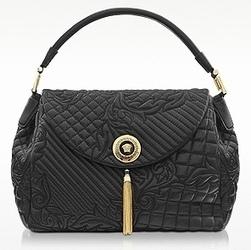 Versace Talia Black Embossed Leather Shoulder Bag - Purses ...   Top Handbags   Scoop.it