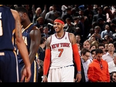 Carmelo Anthony Leads Surging Knicks Over Pacers with 34 | stage.com | Scoop.it