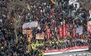 Movilización masiva en Barcelona contra la reforma laboral de Mariano Rajoy | Partido Popular, una visión crítica | Scoop.it