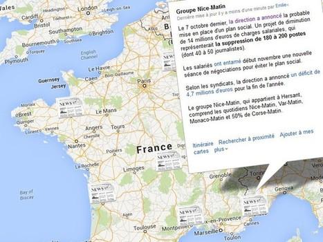 Crise de la presse quotidienne régionale: la carte noire | Presse, Médias et Internet | Scoop.it