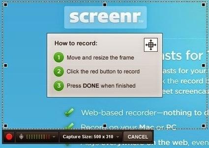 Captura en video de la pantalla desde la web con Screenr | Diseña el cambio. Competencias básicas | Scoop.it