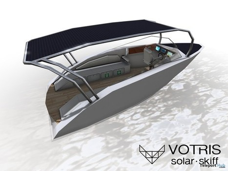 Solar Skiff Boat by VOTRIS | Teleport Hub - Second Life Freebies | Second Life Freebies | Scoop.it