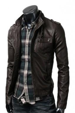 Strap Pocket Dark Brown Jacket | blackfridaydealsa | Scoop.it