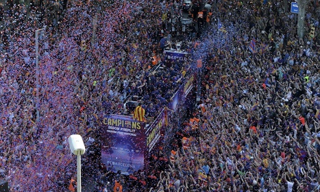 Sport picture of the day: Barcelona's Champions League parade - The Guardian | AC Affairs | Scoop.it