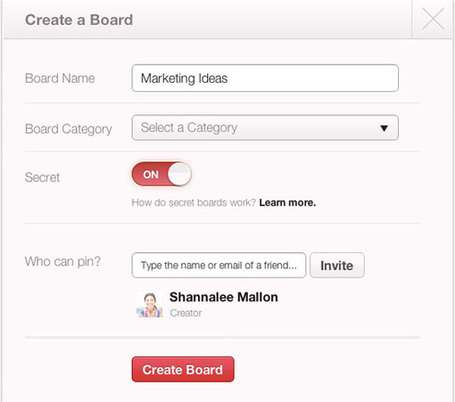 Pinterest's New Secret Boards: Why They Matter | Social Media for Optometry | Scoop.it