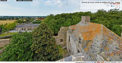 Visite virtuelle - Sommet de la tour carrée du château de Pirou - France par Pascal Moulin | normandie360panoramic | Scoop.it