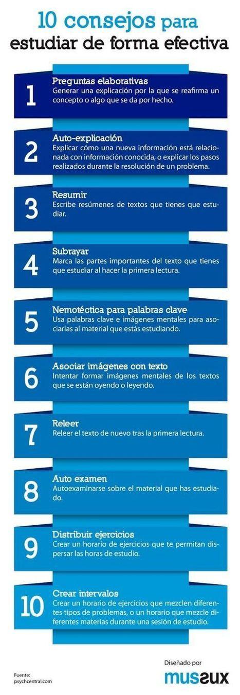 10 Consejos para Estudiar de Forma Efectiva | Infografía | Lenguaticadas | Scoop.it