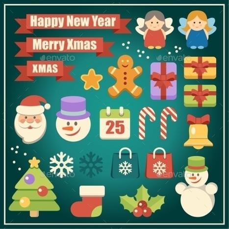 Vectores de elementos de navidad - recursos WEB & SEO | Recursos | Scoop.it