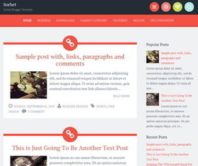 Sorbet Blogger Template | Blogger themes | Scoop.it
