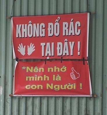 101 kiểu biển cấm đổ rác ở Việt Nam   Thùng rác,Xe gom rác,Nhà vệ sinh di động THANG LONG INDUSTRY   Scoop.it