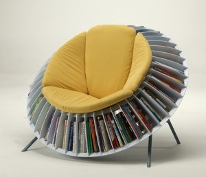 Sunflower Chair, An Ingenious Chair With Integrated Bookcase | Library design and architecture | Scoop.it
