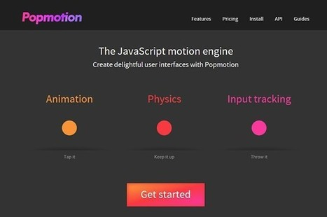 JavaScript Engine Popmotion: Interactive Animations in a Snap | El Mundo del Diseño Gráfico | Scoop.it