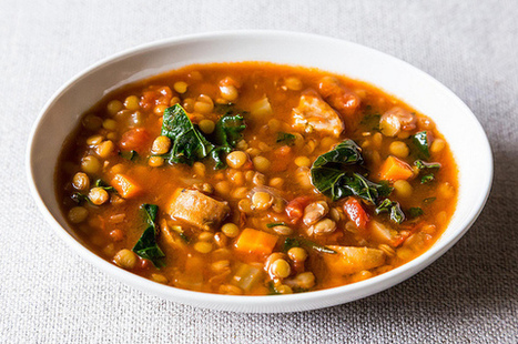Lentil and Sausage Soup with Kale recipe on Food52.com | 4-Hour Body Bean Cookbook | Scoop.it