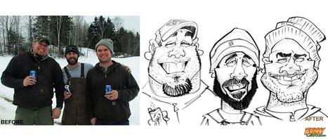 Our latest caricature 3 People Group Caricature | Custom Caricatures | Scoop.it