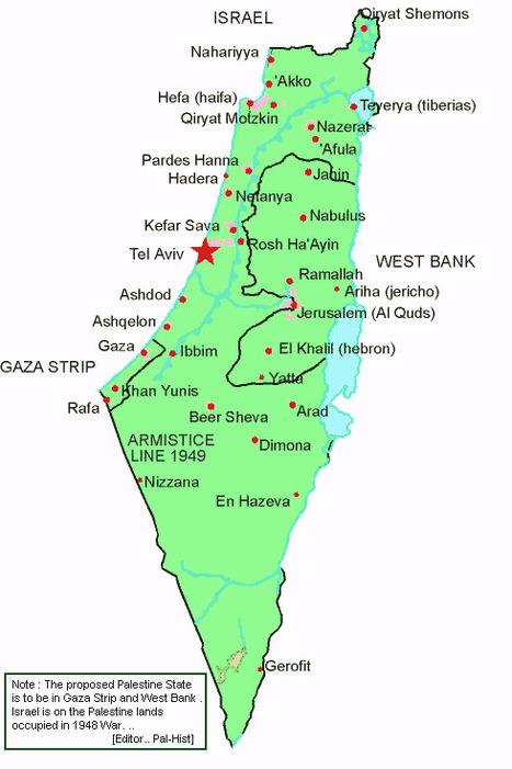 Palestine Map | Burned Alive Palestine | Scoop.it
