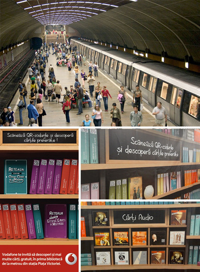 Hybrid Library: QR Codes Access eBooks in Subway Station | WebUrbanist | Learning space for teachers | Scoop.it