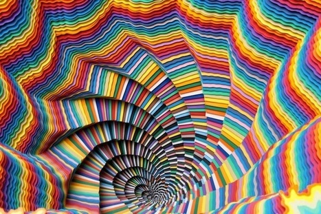 New Hypnotic Paper Sculptures by Jen Stark | Culture and Fun - Art | Scoop.it