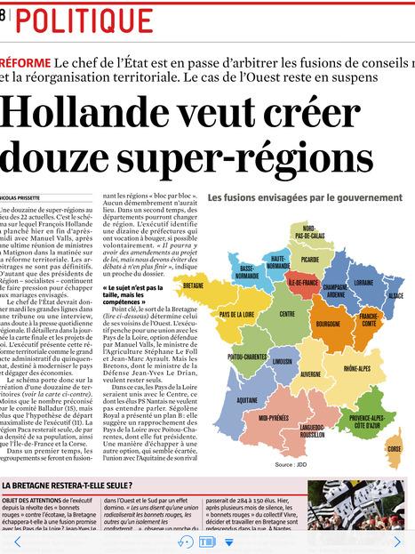 Réforme territoriale : de 22 régions à 12 super...   Aménagement territoire   Scoop.it