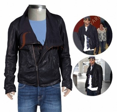 Chris Brown Combo Leather Jacket - Chris Brown Jackets - Men Celebrity Jackets | Unique collection of celebrity jackets its now | Scoop.it