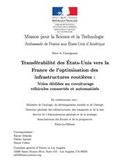 Transférabilité des Etats-Unis vers la France de l'optimisation des infrastructures routières : voies dédiées au covoiturage, véhicules connectés et automatisés | great buzzness | Scoop.it