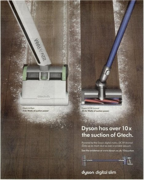 Dyson advert banned by regulator after aggressive campaign against rival designer | Marketing and the Law | Scoop.it