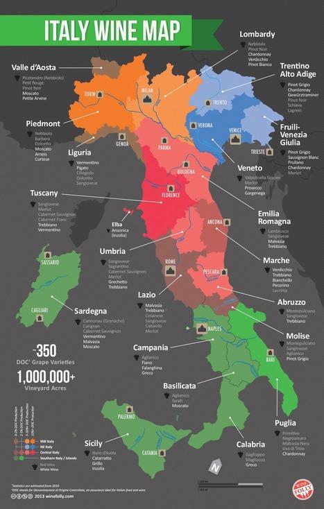 Map of Italian Wine Regions | binNotes Italy - Wines & Culture | Scoop.it