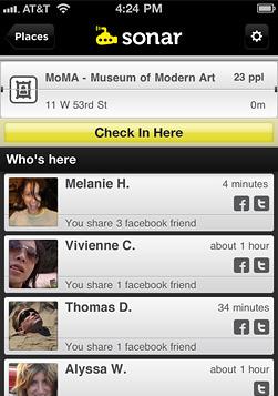 Sonar, l'ultime application sociale de géolocalisation va plus loin que Foursquare | toute l'info sur Foursquare | Scoop.it
