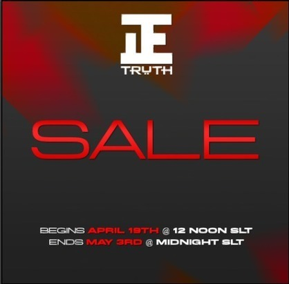 SALE @ TRUTH!  19 April 2013 - 3 May 2013... | Second Life Free, Cheap, Promos, & Sales | Scoop.it
