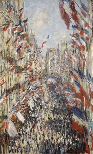 Fête du 30 juin 1878 : la Rue Montorgueil de Claude Monnet | Racines de l'Art | Scoop.it