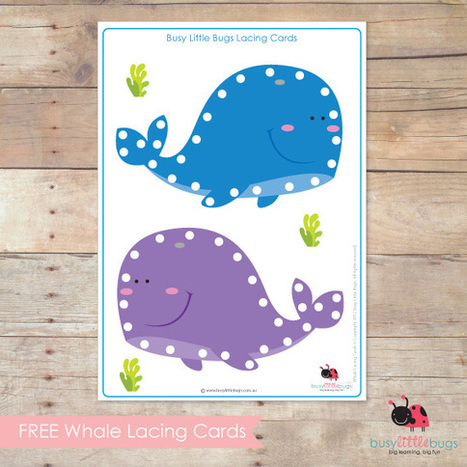 Freebie Friday – Whale Lacing Cards | Busy Little Bugs | Creativity | Scoop.it
