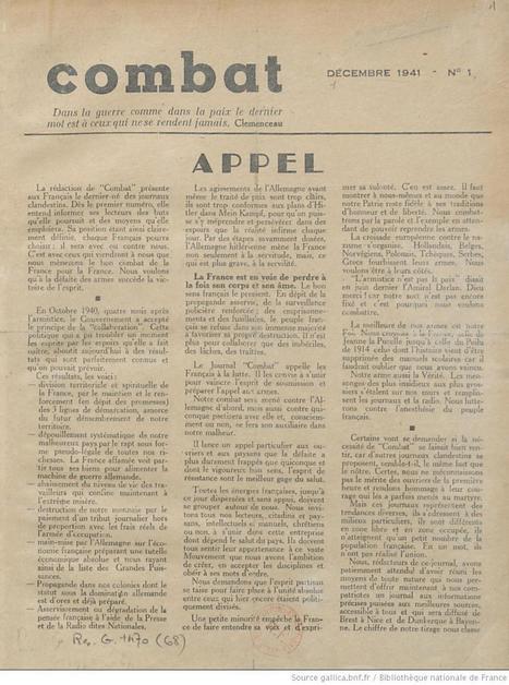 La presse de la 2ème Guerre mondiale dans Gallica | Gallica | GenealoNet | Scoop.it