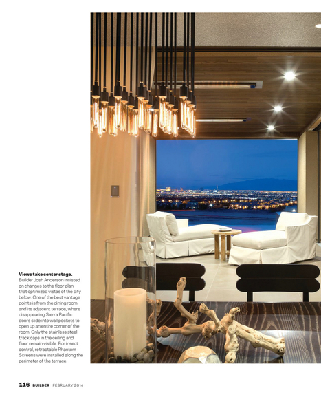Modern Luxury + High Performance = The 2014 New American Home (BUILDER Magazine) | Retractable screens for your home | Scoop.it