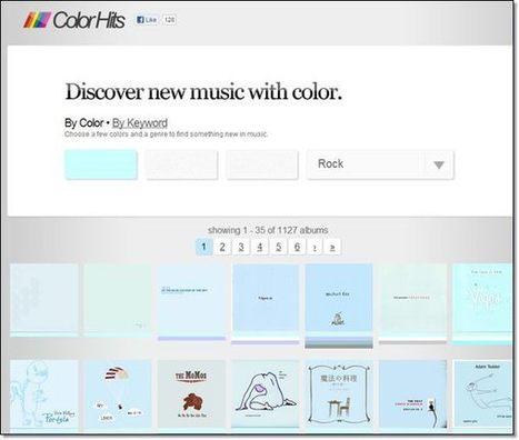 Trouver la musique à partir de la couleur de la pochette de l'album | Ziknum | Scoop.it