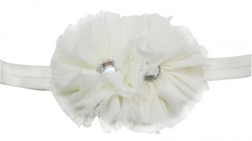 Attractive Off-White Hair Band with Two Flowers and Diamonds for Toddlers in India | Online Baby Accessories | Scoop.it