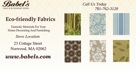 Eco Friendly Fabrics For Better Interior Designing | Babels Paint and Decorating Stores | Scoop.it