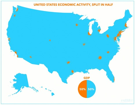 Follow the Money:  Updated Map of America's GDP Split in Half, Detroit Makes the List | People Data, Infographics & Sweet Stats | Scoop.it