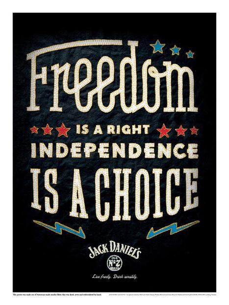 Des affiches typographiques sans aucune aide informatique pour Jack Daniel's | Tendances publicitaires et marketing | Scoop.it
