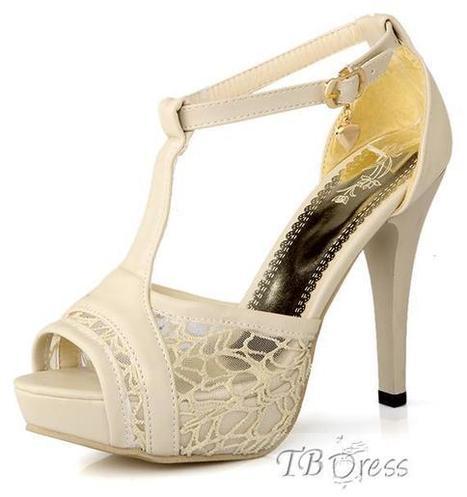 Perfect Peep Toe Lace Strap Stiletto Heel Sandals - Black/White | beauty girl | Scoop.it