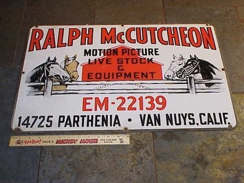 RARE ORIGINAL 40s SIGN FROM THE RALPH McCUTCHEON RANCH | Collectors Quest | Antiques & Vintage Collectibles | Scoop.it