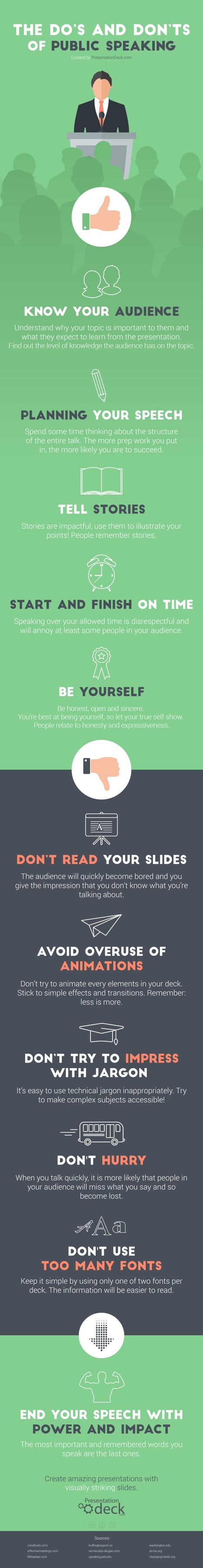 The Do's and Don'ts of Public Speaking Infographic - e-Learning Infographics | Learning At Work | Scoop.it