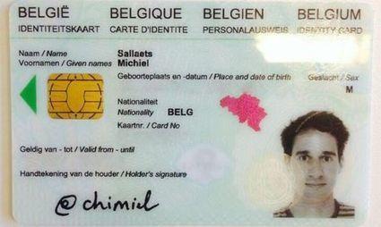 Un Belge signe sa nouvelle carte d'identité avec son identifiant Twitter | mediaTIC+ | Scoop.it