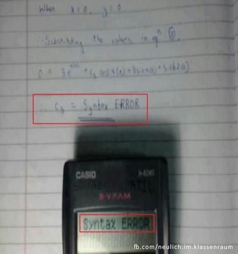 Der Taschenrechner hat immer recht | Lustige Bilder | Test Topic | Scoop.it