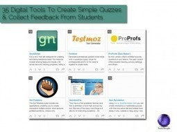 35 Digital Tools To Create Simple Quizzes And Collect Feedback From Students   Language Assessment   Scoop.it