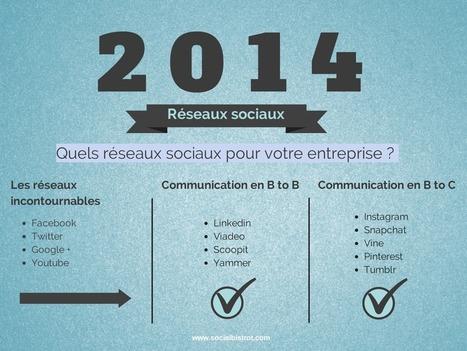 Quels réseaux sociaux pour votre entreprise | Ergonomie, Marketing, Management | Scoop.it