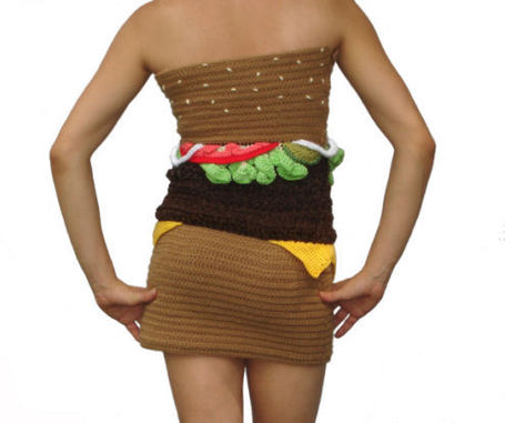 Hamburger Dress  Cool or Weird